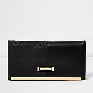 Black panel travel wallet
