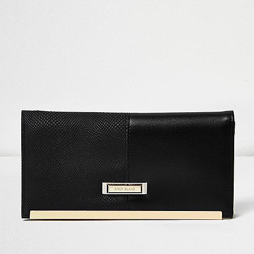 Black panel travel wallet