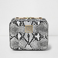 Black snake print jewellery case