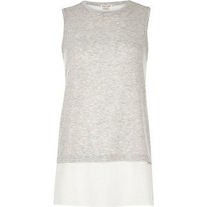 Grey sleeveless tunic top