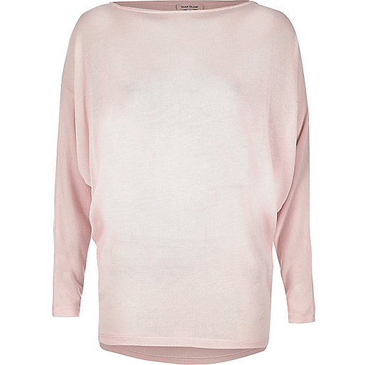 Blush pink batwing top