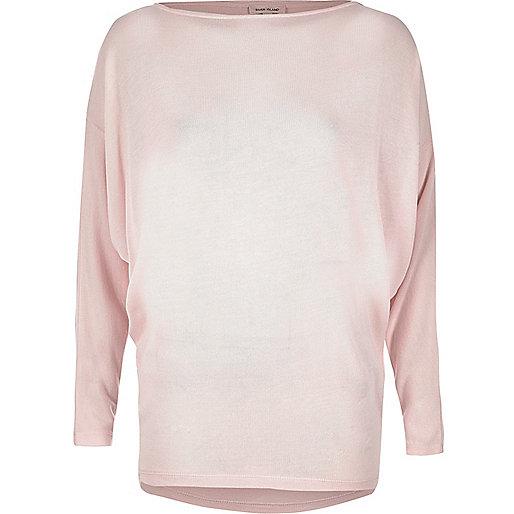 Blush pink batwing top