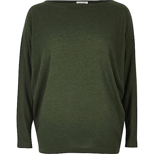 Khaki batwing top