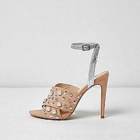 Sandales chair à talons avec lanières ornées