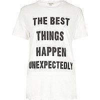 T-shirt imprimé 'Best Things' crème