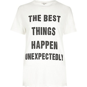 Cream 'Best Things' print T-shirt