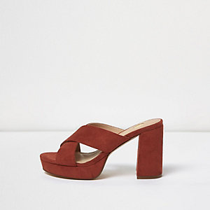Dark orange crossover platform mules