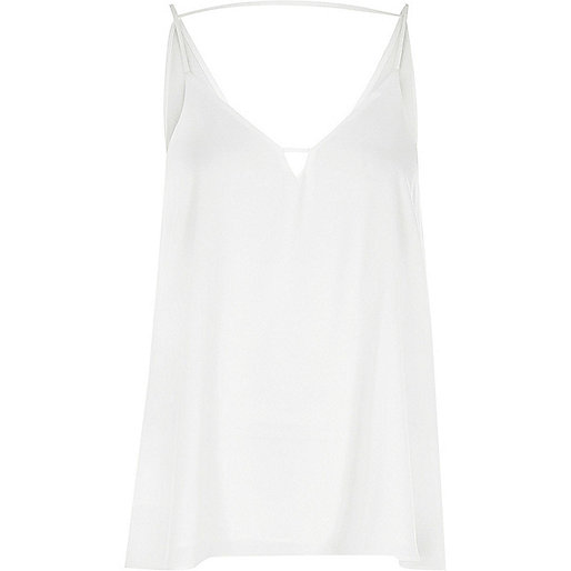 White front bar cami