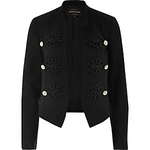 Black smart buttoned blazer jacket