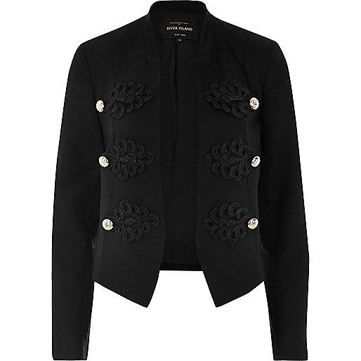 Black smart buttoned blazer jacket