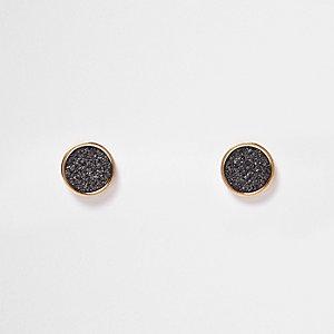 Rose gold tone gliter stud earrings
