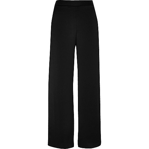 Black split wide leg pants
