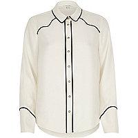 Cream western shirt