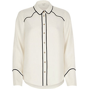 Chemise crème style western