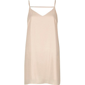 Nude strap back cami dress