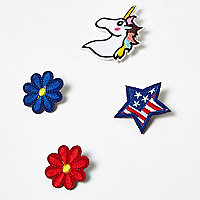 Lot de broches motif licorne bleues