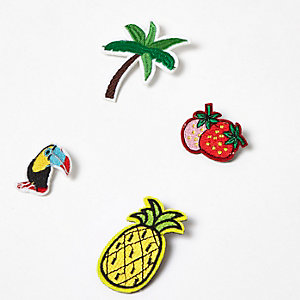 Yellow tropical brooch pack