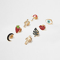 Gold tone multi brooch pack