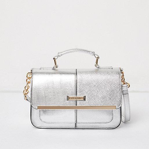 Mini sacoche argentée