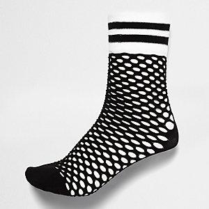 Black sporty fishnet socks