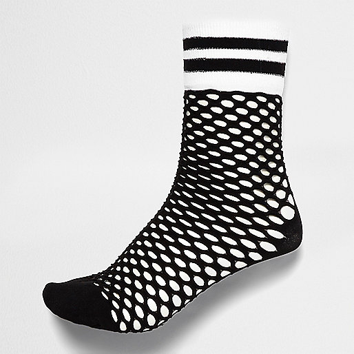 Black sporty fishnet socks