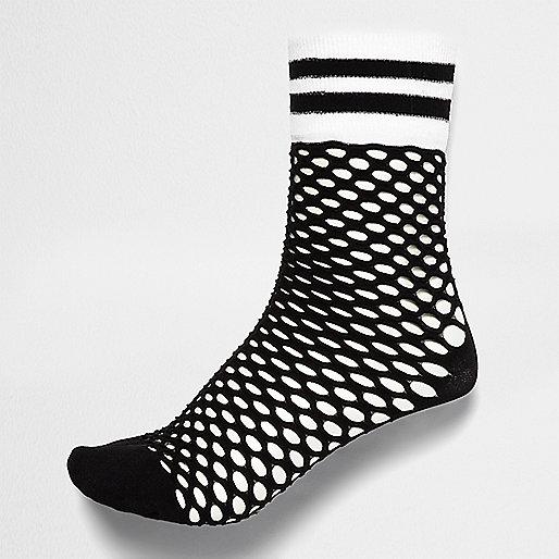 Chaussettes en résille noires style sport