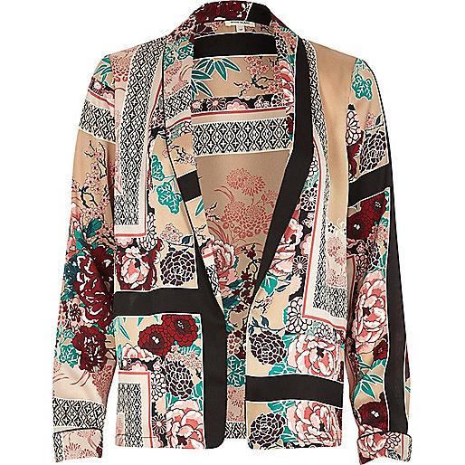 Veste-chemise imprimé oriental rose