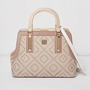 Tote Bag mit Laserschnitt-Design in Rosé