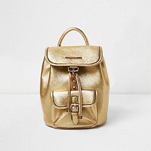 Rucksack in Gold-Metallic