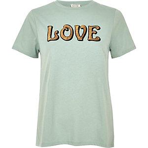 T-Shirt mit Paillettenmuster