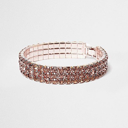 Bracelet doré rose étincelant