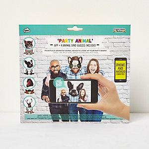 Party-Animal-App und Brille, Set