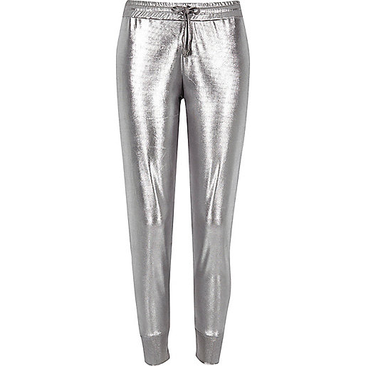 Pantalon de jogging en jersey gris argenté