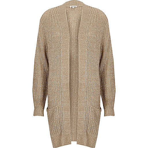 Dark nude knit sequin cardigan