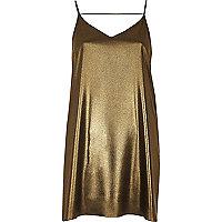 Goldenes Trägerkleid