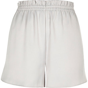 Silver soft woven shorts