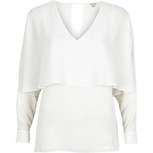 White angel cape top