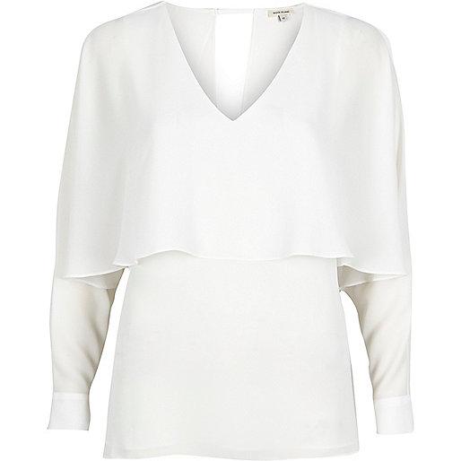 White angel cape top