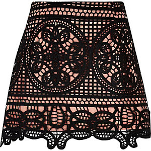 Light pink lace pelmet skirt