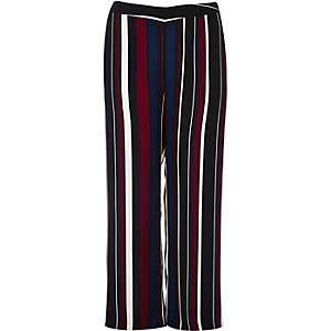 Black RI Plus stripe soft trousers