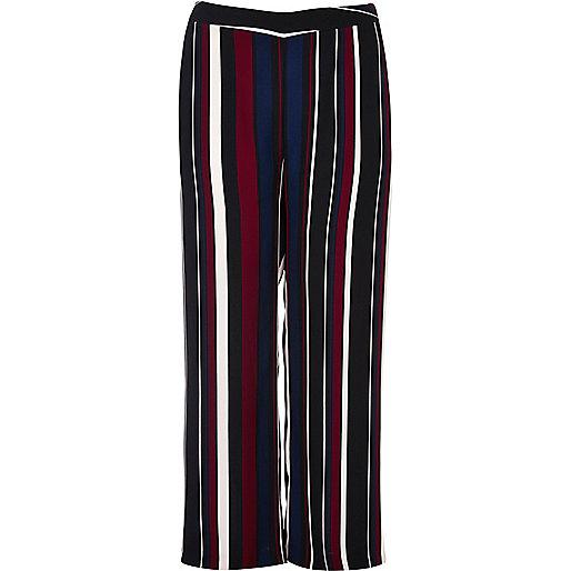 Black RI Plus stripe soft trousers