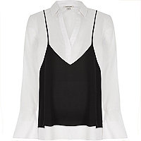 Chemise blanche style caraco