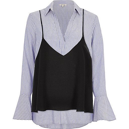 Blue stripe cami shirt
