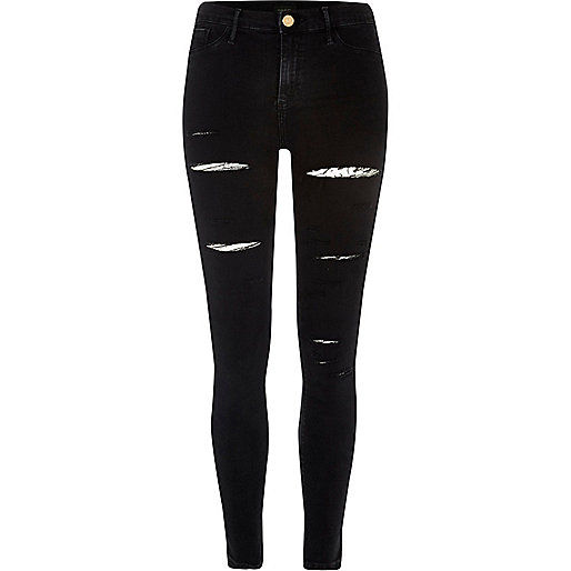 Black ripped Molly jeggings