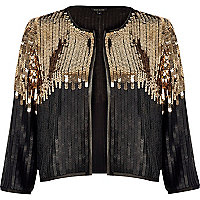 Black and gold sequin bolero