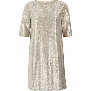 Gold T-shirt dress