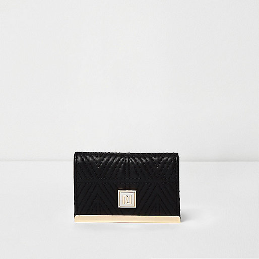 Black quilted travelcard holder