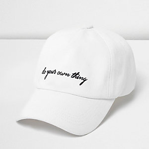 White DYOT slogan soft cap