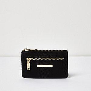Black snake print mini purse