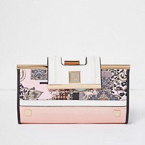 Pink print purse